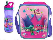 Dreamworks Trolls 3D School Lunch Bag and Flip 'N' Flow 590 ml Bottle Set *NEW*