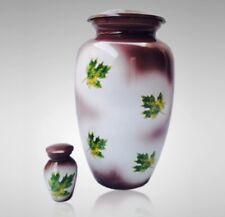 Falling Leaves Cremation Urn, Adult Urn, Handcrafted!