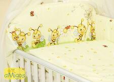 Amigos Baby Bettset Bettwäsche 4 tlg. Bienen grün-gelb