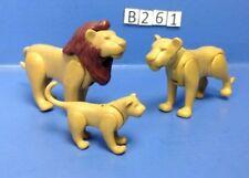 (B261) playmobil famille lions, zoo, savane