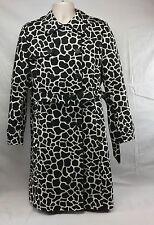 Giraffe Print Double Breasted Rain Fog Trench Coat Large Women's Liz Claiborne