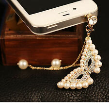 Anti Dust Plug For Samsung S7 S6 S5 S4 S3 C9 A9 A8 A7 Note 5 4 3 2 Pearls Mask