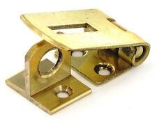 1 x 38mm SOLID BRASS HASP & STAPLE Small/Mini Door Cupboard/Cabinet Strap Lock
