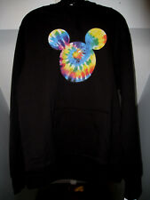 NEFF DISNEY COLLECTION TIE-DYE MICKEY MOUSE BLACK HOODED SWEATSHIRT SZ MED NWT
