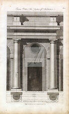 ARCHITECTURE - Tuscan Order - RARE 1791 Antique Architectural Engraving #B814