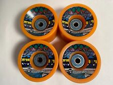 Satori Eco-Cruser 63mm skateboard Wheels from Bureo never used, tangerine qty.4