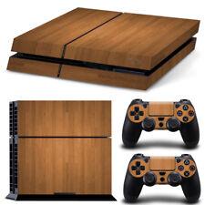 Wood Grain PlayStation 4 PS4 Skin Vinyl Sticker Console&Wireless Controllers