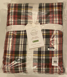 Pottery Barn Denver Plaid Duvet Cover Cotton KING / CAL KING Christmas Holiday