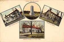Plattsburgh New York Culver Hill Monument Multiview Antique Postcard J67013