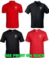 Men's Welsh Rugby Nations Triple Crown Wales Grand Slam 2019 Polo Shirt/T Shirt