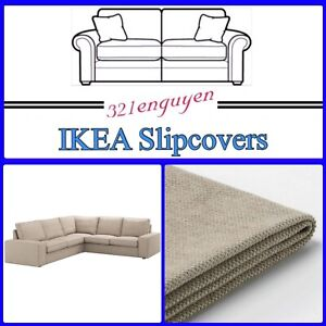 IKEA KIVIK 4 Seat Sectional Slipcover COVER ONLY, tallmyra beige - NEW