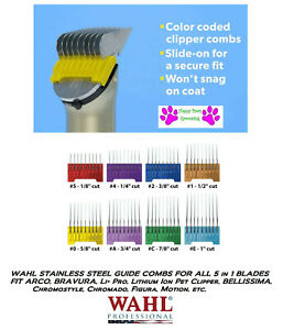 WAHL Stainless Steel ATTACHMENT GUIDE COMB For ARCO,BRAVURA, 5in1(5 in 1)Blades