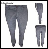 Pantaloni da uomo con cavallo basso lungo grigio a quadri invernali turca S M L