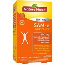 Nature Made SAM-e Complete 400 mg 36 ct EXP APRIL 2022 Brand-New-In-Box & Sealed