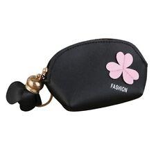 Womens Ladies Casual Flower Wallet Coin Purse Keychain Bag Mini Storage Bag CA