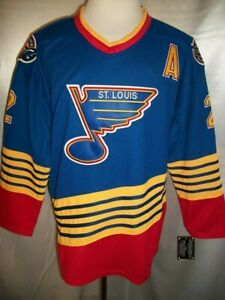 "Al MacInnis St. Louis Blues Blue & Red ""1995-1998 Throwback"" CCM NHL Jersey"