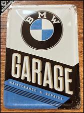 BMW -  Garage Maintenance Repairs Metal Postcard Mini Tin Sign Novelty Card gift