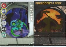 Cartes BAKUGAN Freedom's land et deep cave