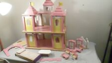 Vintage 2 Story Doll Playhouse with some furniture 28H x 22W x 14D