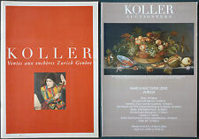 PROGRAMME VENTES KOLLER ZURICH GENEVE 2005 - PRESENTATION + PROGRAMME +CATALOGUE