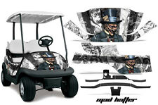 Club Car Precedent Golf Cart Graphic Kit Wrap Parts AMR Racing Decals HATTER WHT