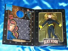 "BLACK WIDOW: 8"" Action Figure w/Authentic Fabric Costume! FAMOUS COVER Series!"