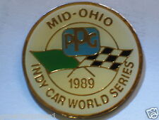 1989 Mid Ohio Race track Indy Car World Series Pin  Vintage PPG Racing Pin ,(**)