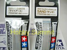 Tamiya  WEATHERING STICK Paint  LIGHT EARTH & SAND Effect Set of 2   87086 87087