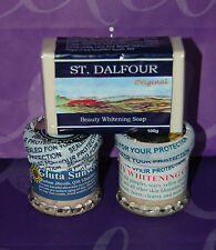ST DALFOUR WHITENING SET CREAM SOAP GLUTATHIONE SUNBLOCK USA SELLER