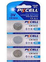 3 x CR1632 3V Lithium Batterie 120 mAh ( 1 Blistercard a 3 Batterie  PKCELL)