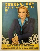 Movie Mirror Magazine April 1940 Olivia De Havilland, James Stewart