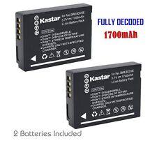 2x Kastar Battery for Panasonic Lumix DMW-BCG10 DMC-TZ7 DMC-TZ8 DMC-TZ10 TZ18