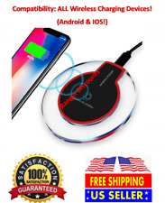 Wireless Charger Qi-Certified Universal Slim Charging Pad w/ Micro USB Cable
