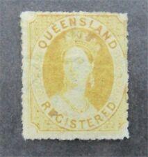 nystamps British Australian States Queensland Stamp # F2 Mint Og H $130 U4y1548