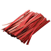 Hot Sale!100 Pcs Red Metallic TwiTies for Cello Candy Bags Party 8cm AD