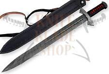 "Damascus steel blade VIKING Sword,Handmade SWORD.DAMASCUS HILTS OVERALL 31.75"""