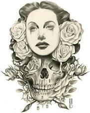 Rimada White Lies STICKER Decal Gustavo Skull Roses Woman G56
