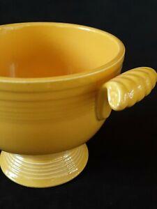 "Vintage Fiestaware yellow sugar bowl 3.25"" circa 1950's"