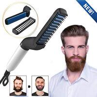 Hair Straightener For Men Curling Curler Electric Brush Beard Comb Hair Styler