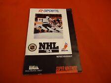 NHL '94 Super Nintendo SNES Instruction Manual Booklet ONLY