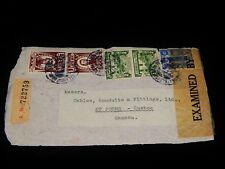 Vintage Cover,LIMA, PERU, REGISTERED, Multi-Stamped To St John's, (Quebec), NFLD