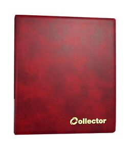 Collector Coin Album 300 Coins Mix Sizes THICK Book Folder Big Capacity RED