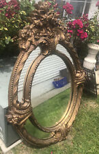 Large wall mirror - Ornate Oval Vintage French