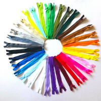10x Invisible Closed End Zip Zippers Nylon Concealed Zippers Multisize 8 Colors