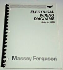 Massey Ferguson MH Pre 1979 Electrical Wiring Diagrams Manual Tractor Combine MF