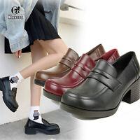 Japanese JK School Black Low Heel Shoes Womens Universal Maid Cos Shoes Schuhe