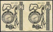 Österreich ANK 1375 PU MICHEL 1345 P U Alte Uhren Probedruck ungezähnt im Paar