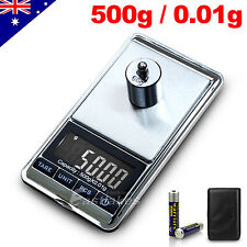 NEW 500g 0.01g DIGITAL POCKET SCALES JEWELLERY PRECISION ELECTRONIC WEIGHT LAB