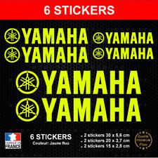 6 Stickers YAMAHA Jaune FLUO Autocollants compatible Moto Scooter Quad Adhésifs