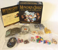 Munchkin Quest Board Game 2008 Steve Jackson 1st Edition 1st Print Incomplete